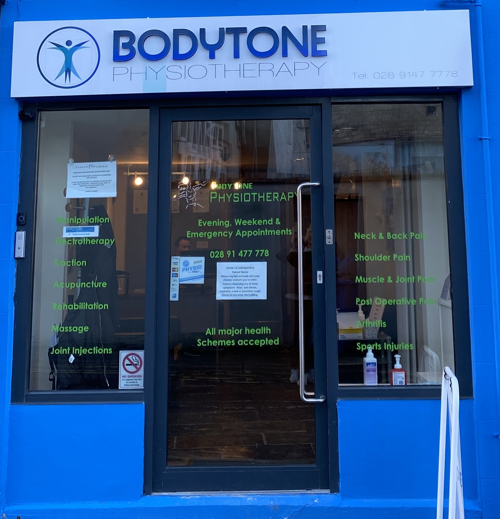 Bodytone Physiotherapy Clinic Entrance